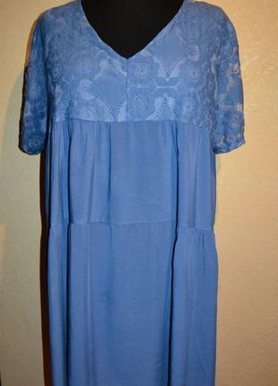 Платье-туника, кружево, размер универсальный 58-64.