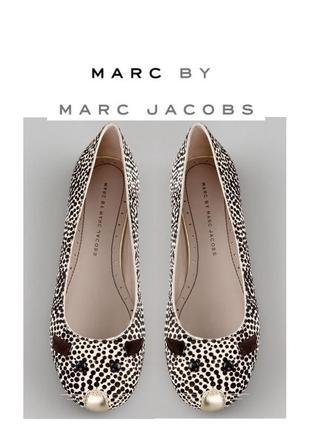 Marc jacobs оригинал балетки в горошек мышь из искусственной кожи пони туфли