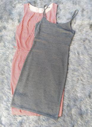 Платье сарафан комбинация miss selfridge