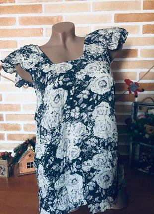 Стильная лёгенькая летняя блуза от roman original, указан 14 размер.