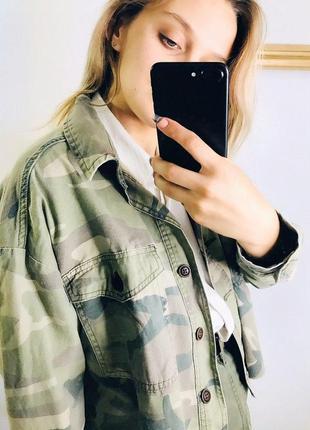 Камуфляжная джинсовка от primark |джинсовка|джинсовая куртка|ветровка5 фото