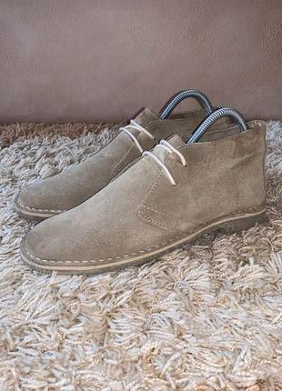 Туфли дезерты asos натуральная замш оригинал