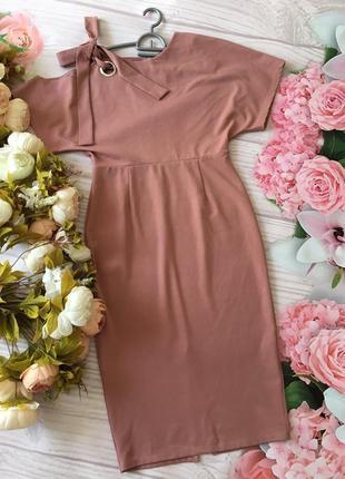 Платье миди пудра сукня asos платьице