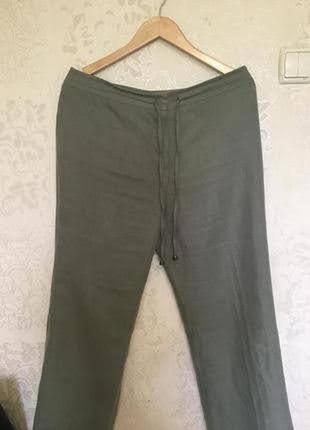Льняные летние брюки италия р.14 l от collection corneliani2 фото