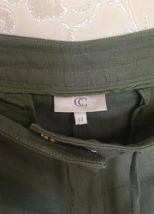 Льняные летние брюки италия р.14 l от collection corneliani3 фото