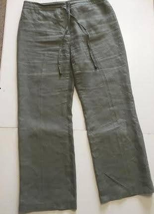 Льняные летние брюки италия р.14 l от collection corneliani6 фото