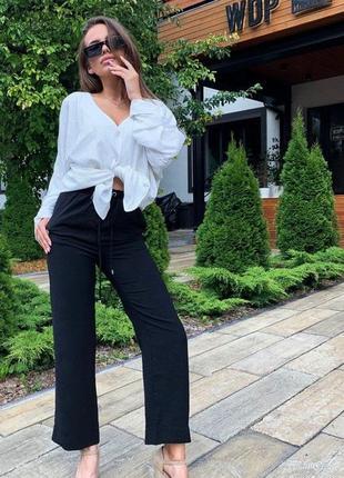 Черные брюки штаны клеш