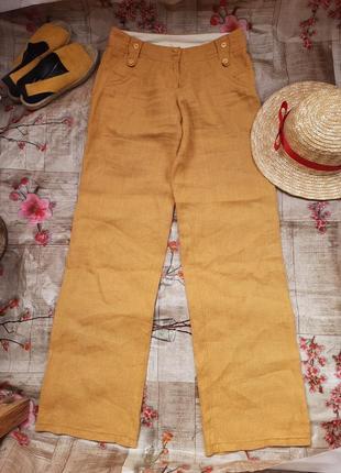 Брюки штаны льняные лен льон