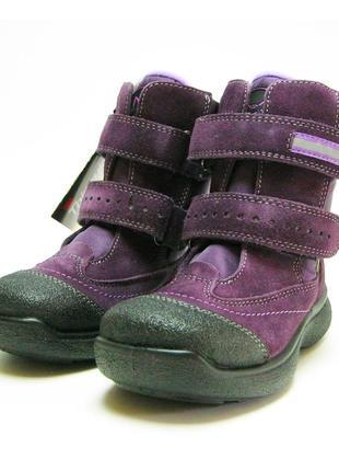 Термо-ботинки капика, на мембрана, шерсть. кожа. р. 27-34