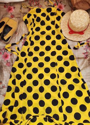 Платье миди сукня в горошек