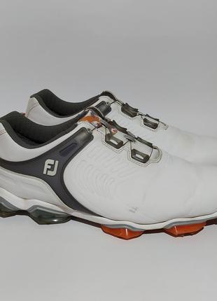 Кожаные fj оригинал кроссовки на утяжке размер 45