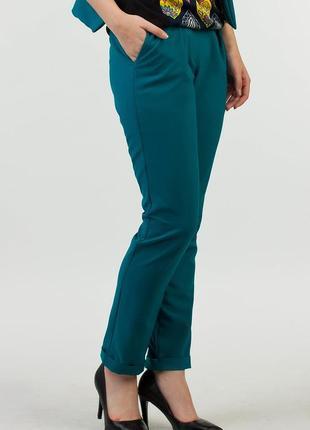 Esprit шикарные брюки изумрудного цвета - l - xl