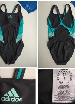 Купальник слитный сдельный спортивный для плаванья adidas