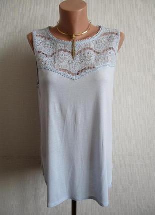 Трикотажная блузка с нежным кружевом h&m