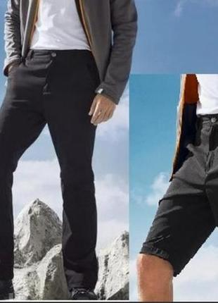 Классные мужские треккинговые брюки-шорты от crivit sport размер 52