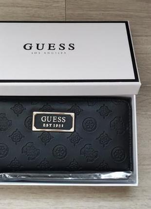 Гаманец кошелек портмоне клатч guess гесс черный оригинал