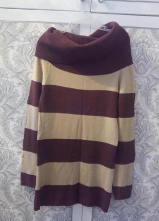 Платье-свитер с воротником хомут.