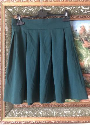 Зелёная юбка-колокольчик