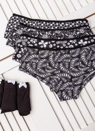 Трусы женские шортами из хлопка 7 шт. комплект трусики шорты шортиками хлопок