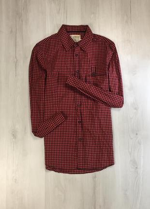 Z7 рубашка приталенная topman топман клетчатая в клетку