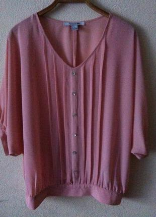 Пудровая блуза свободного кроя