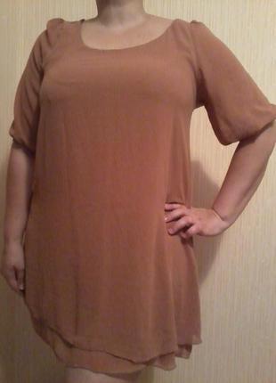 Платье-туника шифон new look