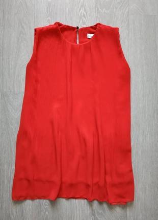 Красная блуза плиссе
