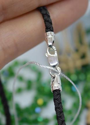 Серебряный #шнурок #нейлон #ровный #3мм #на шею #унисекс #925 все размеры!