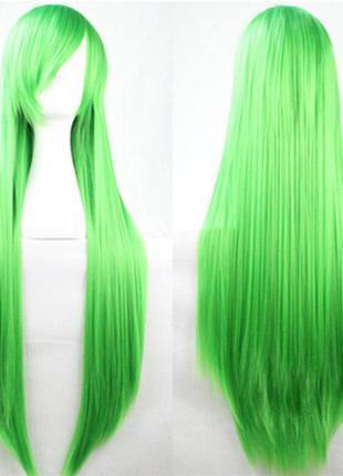 Длинный зеленый искусственный парик 100% канекалон на косплей