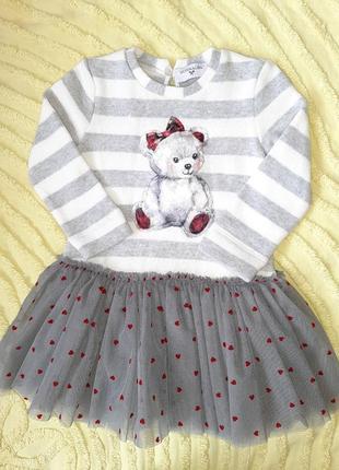 Платье monnalisa   86 см для девочки, новое, люкс бренд/ зима/осень