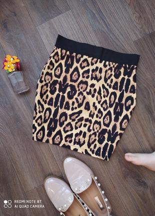 Новая сочная леопардовая юбка по фигуре