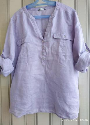 Стильная льнаная рубашка m&s
