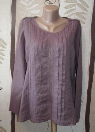Легкая сиреневая блуза redoute,инлдия