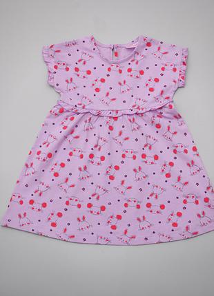 Платье летнее трикотажное с мышками и зайчиками pepco