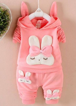 Костюм для дівчинки зайчик рожевий