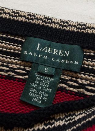 Яркий джемпер в полоску ralph lauren
