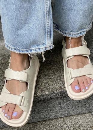 Распродажа сандалии . хит  лета , кожаные сандалии,36-41р3 фото