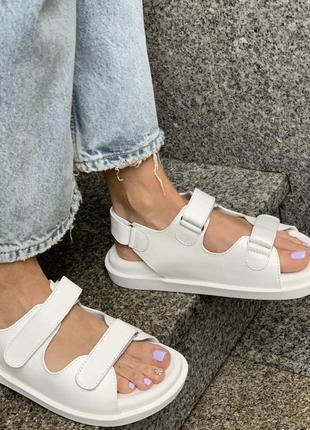 Распродажа сандалии . хит  лета , кожаные сандалии,36-41р4 фото