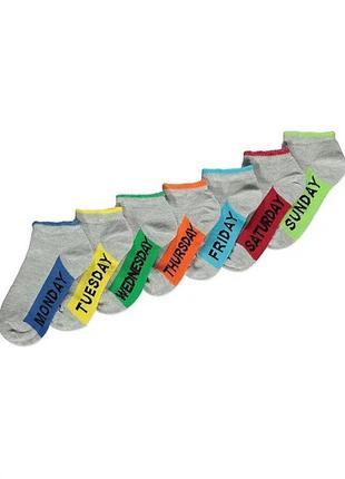 Носки недельки детские джордж, набор 7 пар 200709