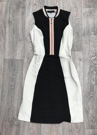 Платье с замком спереди  размер 8 next s