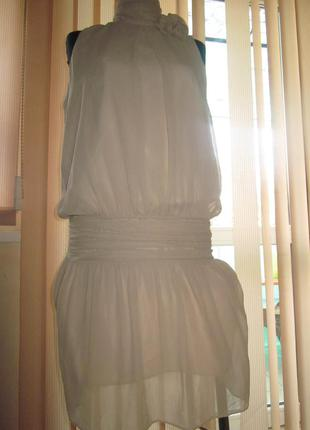 Платье zara натуральный шелк