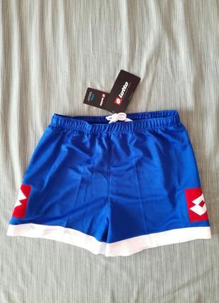 Футбольні підліткові чоловічі шорти lotto junior xl футбольная форма шорты