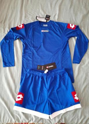 Нова футбольна підліткова форма шорти +футболка кофта на довгий рукав  lotto xl junior
