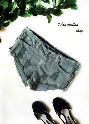 Короткие джинсовые шорты фирмы crafted