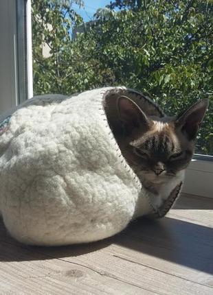 Домик для кошки валяный