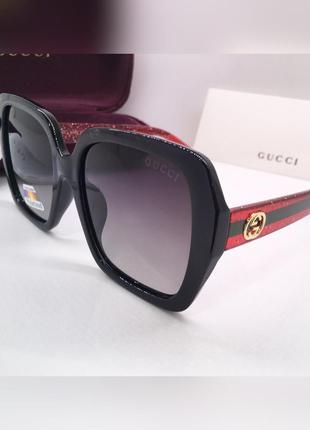 Gucci очки женские солнцезащитные оверсайз с поляризацией