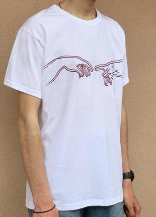Оригинальная футболка с ручной росписью😍