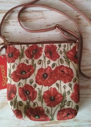 Маленька гобеленова сумочка через плече