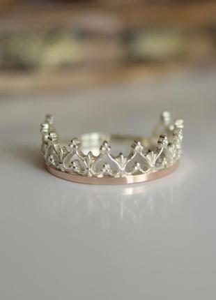 """Серебряное кольцо """"корона"""""""