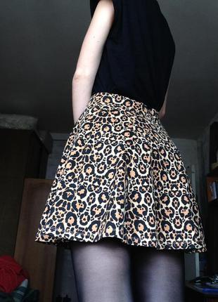 Леопардовая юбка h&m